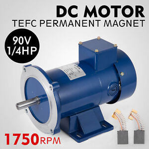 Dc Motor 1 4hp 56c Frame 90v 1750rpm Tefc Magnet Smooth Applications Permanent