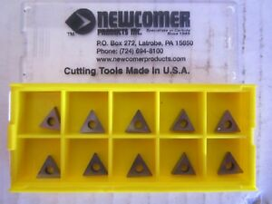 Lot Of 10 Newcomer Carbide Inserts Style Tp Size 41 Grade N22 New