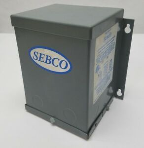 Sebco 1105 12 Lighting Transformer Low Voltage 277v Pri 12v Sec 1 2a 300w Used