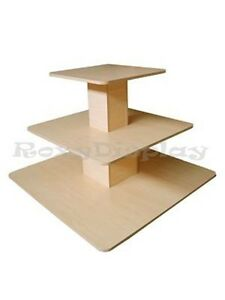 Ca Sale 3tier Table Maple Color Clothes Display Racks Stands rk 3tier48m