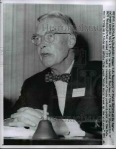 1968 Press Photo U.S. Sec of State Christian A. herter Delivers address in Paris