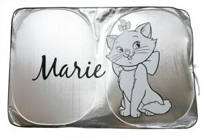 Marie Cat Aristocats Disney Car Accessory Front Sunshade Windshield Sunshield