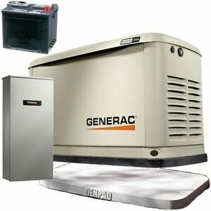 Generac Guardian 16kw Aluminum Standby Generator System 200a Service Disconn