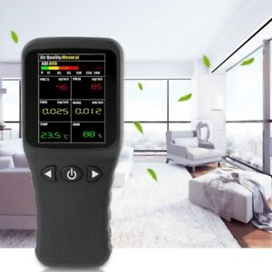 Air Quality Detector 6in1 Pm2 5 Pm10 Tvoc Hcho Formaldehyde Humidity Temperature