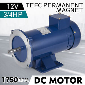 Dc Motor 3 4hp 56c Frame 12v 1750rpm Tefc Magnet Durable Permanent Continuous