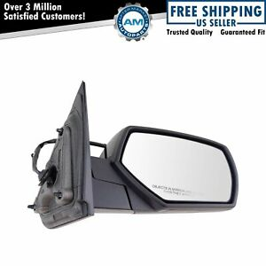 Mirror Power Heated Smooth Black Passenger Side Right Rh For Chevy Gmc Pickup