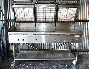 Lang 6 Ft Commercial Gas Griddle 3 24 In Gas Infared Clamshell Hoods Nice