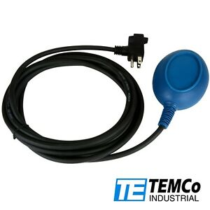 Temco Float Switch For Sump Pump Water Level Fill Function Control 13ft Cord