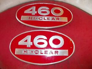 Farmall 460 Hi High Clear Tractor Ih Oval Hood Side Emblems Emblem Extremly Rare