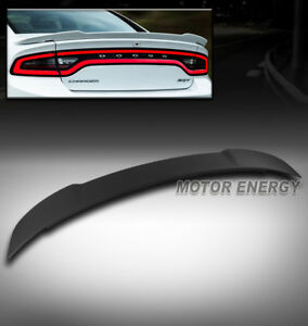 For 11 18 Dodge Charger Hellcat Style Srt Rear Trunk Spoiler Wing Matte Black