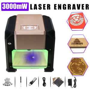 3000mw Desktop Diy Logo Marking Engraver Cutter Printer Laser Engraving Machine