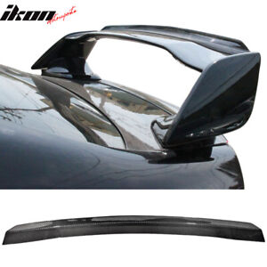 Fits 08 14 Wrx Sti Top Gurney Flap Add on Carbon Fiber cf Trunk Spoiler Wing