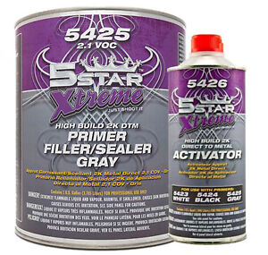 5 Star Extreme 1 Gallon Dtm Self Etching Primer Kit With Reducer