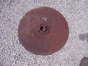 Farmall Ih Case Jd John Deere Plow 19 3 4 Rolling Rollin Cutter Wheel Disc Disk