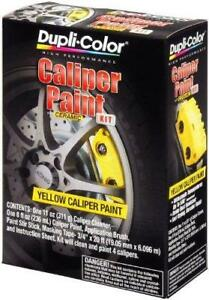 New Dupli color Yellow Caliper Paint Kit With Ceramic Cleaner Brush Duplicolor