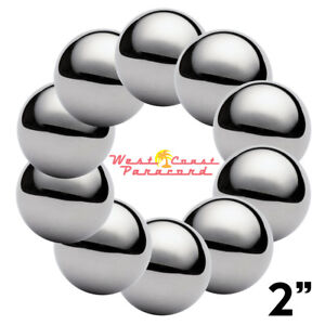 2 Chrome Steel Bearing Balls For Paracord Project 10 Pack
