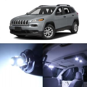 13 X White Led Interior Lights Package Kit For Jeep Cherokee 2014 2019 Tool