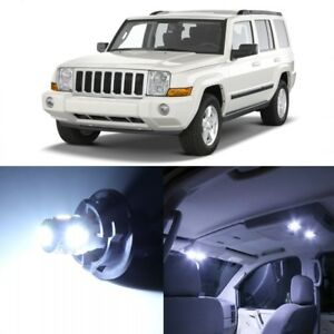 13 X White Led Interior Lights Package Kit For Jeep Commander 2006 2010 Tool