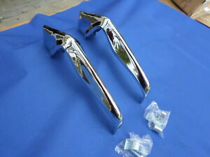 New 1964 Chevrolet Chevy Impala Bel Air Biscayne Rear Bumper Guards Chrome Pair