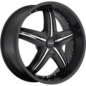 20x8 Black Wheel Dolce Dc26 5x112 5x120 35