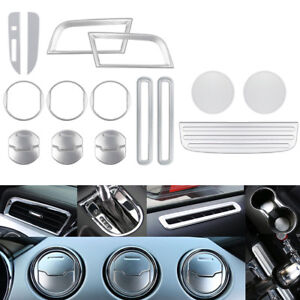 18pcs set Interior Accessories Decoration Trim Cover For Ford Mustang 2015 2018