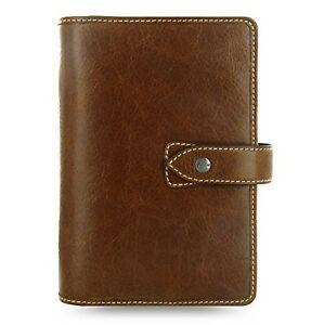 Filofax Weekly Daily Planner Malden Ochre Personal Size Leather Organizer Age