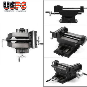 6 Cross Drill Press X y Clamp Machine Vise Metal Milling Slide 2 Way Black Us