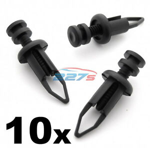 10x 9mm Front Rear Plastic Bumper Clips Fits Toyota Mr2 Supra Celica