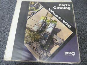 West Manitowoc Model West 100 Crawler Crane Parts Catalog Manual Book