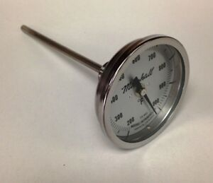 Industrial Stack furnace Thermometer 200 1000f 3 Dial 6 Stem 1 2 Npt