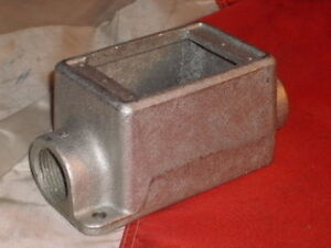 Crouse Hinds Fdc3 Single Gang Pass Through Device Box Malleable Iron 1