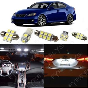 14x White Led Lights Interior Package For 2006 2013 Lexus Is250 Is350 Isf Li1w
