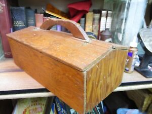 Tool Box Chest Primitive Antique Weathered Wood Covered Wooden Vintage Early