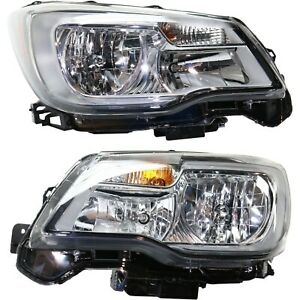 Headlight For 2017 2018 Subaru Forester Pair Driver And Passenger Side