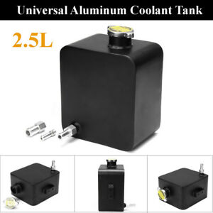 Universal 2 5l Aluminum Water Coolant Radiator Overflow Recovery Tank Expansion