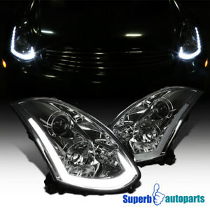 For 2003 2007 Infiniti G35 Coupe Projector Headlights Integrated Led Signal