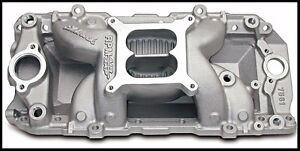 Edelbrock 7561 Performer Rpm Air Gap Intake Manifold Bbc Chevy Oval Port 7561