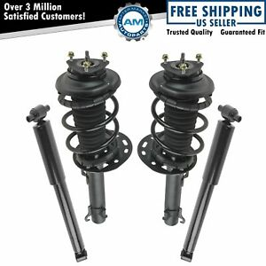 Front Rear Complete Shock Strut Spring Assembly Kit Set 4pc For Focus Wagon