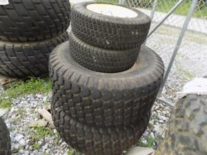 Set Of Front Rear Turf Tires On John Deere Rims For Compact Tractors S 88766
