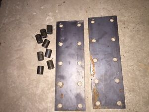 2 Farmall Smta 560 Sh Sm Ih Tractor 10 Hole Fender Extension Brackets Spacers