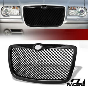 For 2005 2010 Chrysler 300 300c Matte Black Mesh Front Bumper Grill Grille Guard