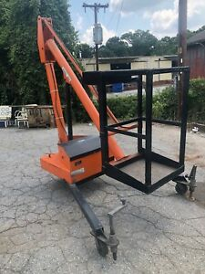 Krause R 68 Single Man Basket Hydraulic Lift Boom 12v 500lb Cap 14ft Tall Works