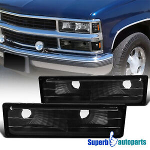 For 1988 1998 Gmc 88 98 Sierra Bumper Signal Parking Lights Black Yukon Tahoe