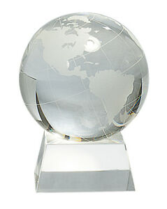 5 5 Crystal Globe Trophy Personalized Free