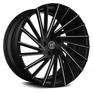 Lexani Wraith 1pc Wheels 18x8 40 5x114 3 74 1 Black Rims Set Of 4
