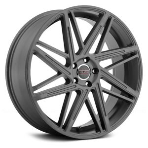 Milanni Blitz Wheels 22x9 38 5x114 3 73 1 Gunmetal Rims Set Of 4
