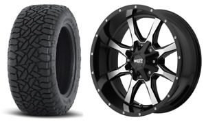 17 33 Moto Metal Fuel At Wheels Tires Package 8x180 Gmc Chevy 2500 3500 2011up