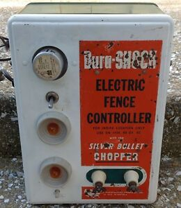 Electric Fence Box Panel Vintage Steampunk Industrial Farm Dura Shock Controller