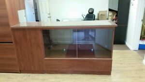 Retail Glass Display Case Custom Made With Computer cash Register Station