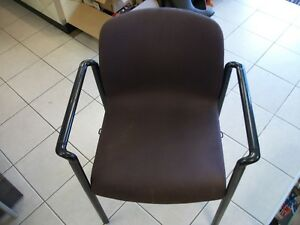 Maroon Upholstered Herman Miller aside Office Guest Arm Chair Preowned